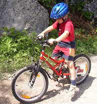 Paul mit dem gleichen Fahrrad wie Marias vor dem Umbau